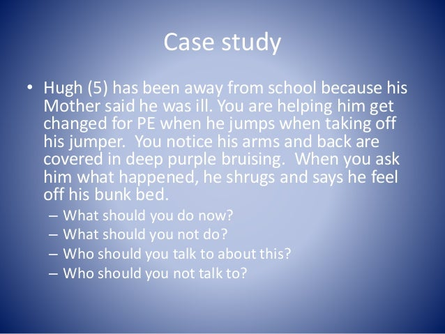 child abuse case study analysis A child who is less than 12 months of age and whose parent, guardian, or custodian has knowingly or intentionally left the child in an environment that endangers the.