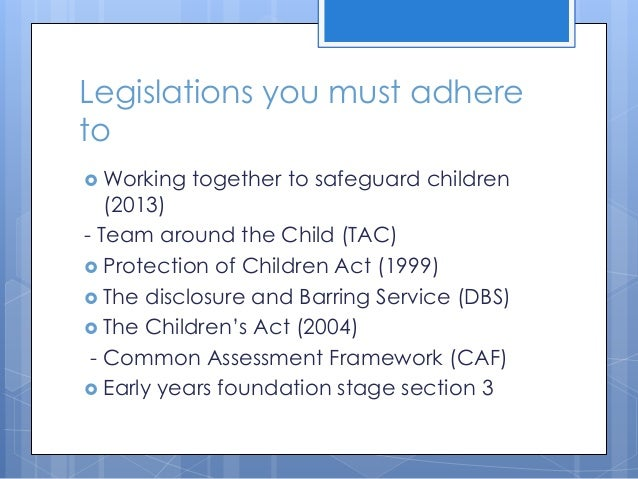 current legislations guidelines policies and procedures for safeguarding the welfare of children and Breaking news examine in detail how legislation and guidelines for safeguarding contribute to the development of policy and procedure how to outline the current legislation and guidelines.