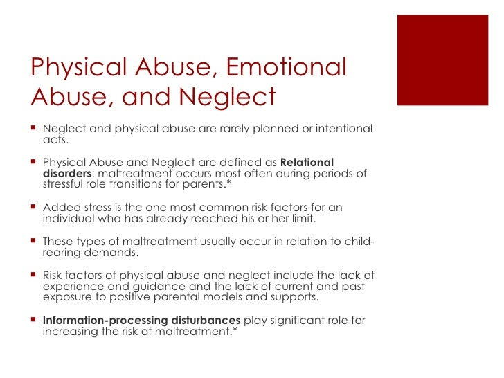 parenting abuse and neglect essay