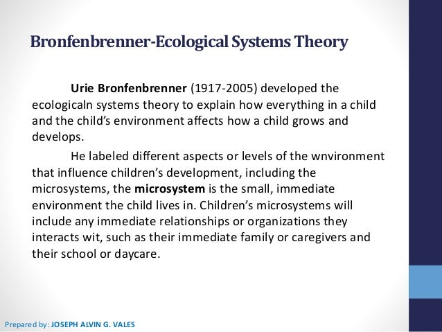 a review of bronfenbrenners different levels of ecological systems A socio-ecological framework of bullying ecological systems theory (bronfenbrenner, 1977, 1979) human behaviour interaction of individuals and their wider social environment.