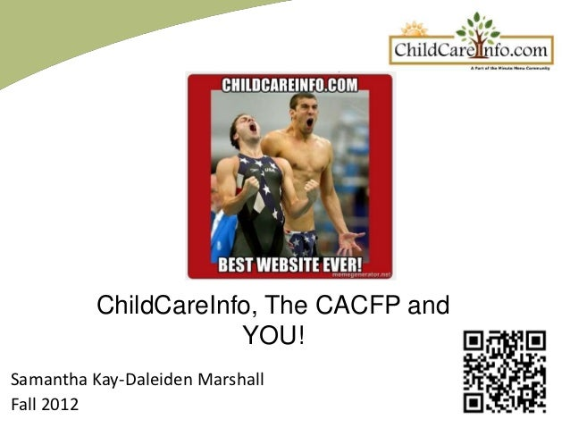 ChildCareInfo, The CACFP and YOU