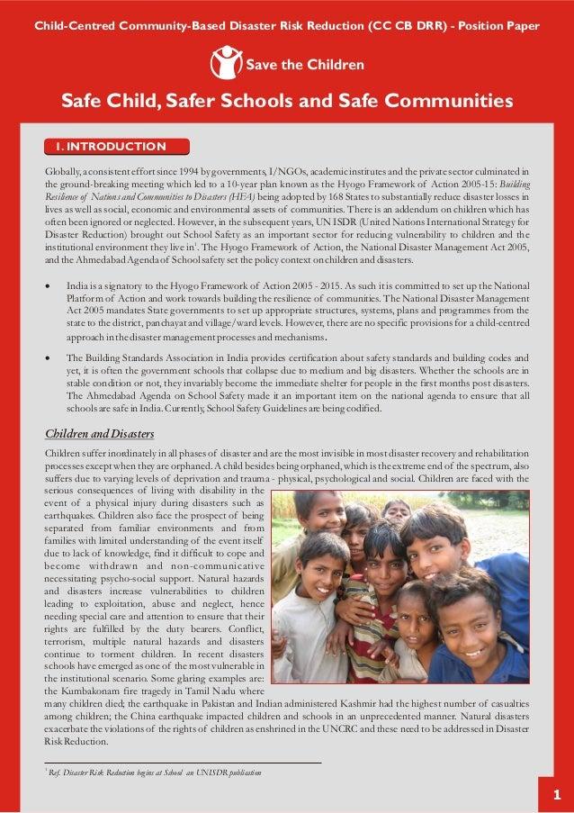 Child centered community based disaster risk reduction