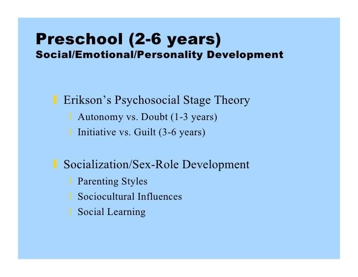 preschool stage of development