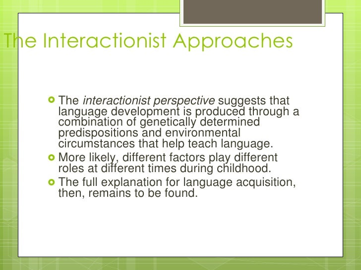 interactionist perspective and family