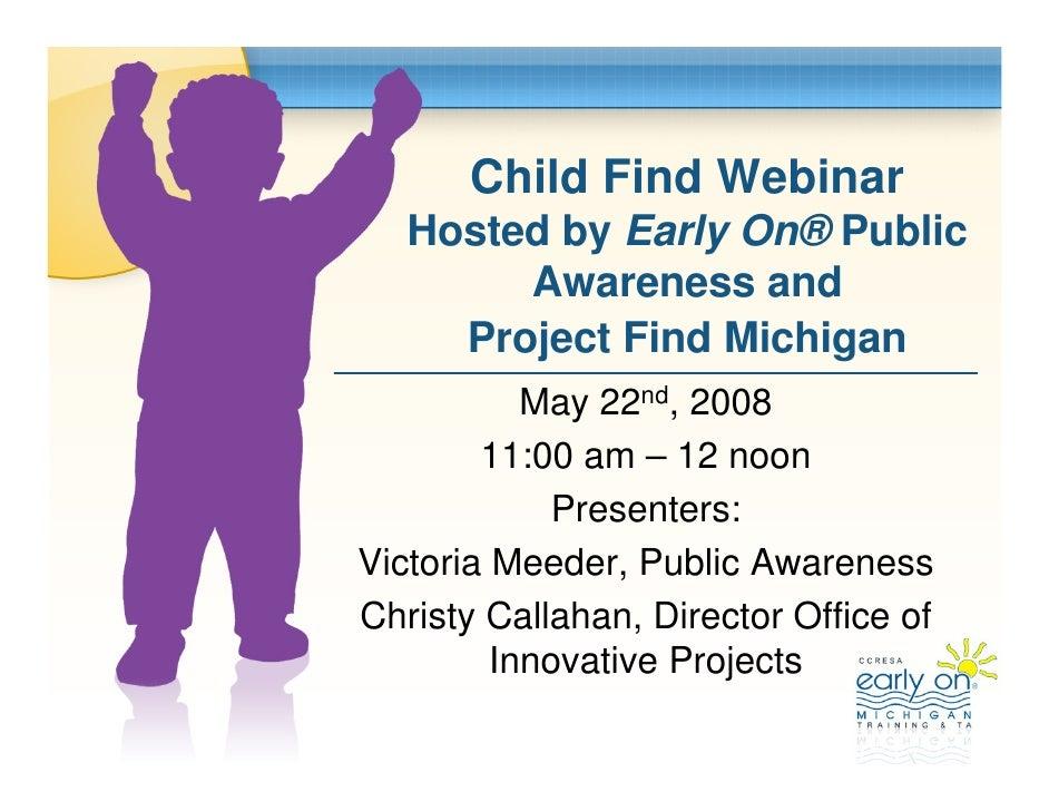 Child Find Webinar May2008