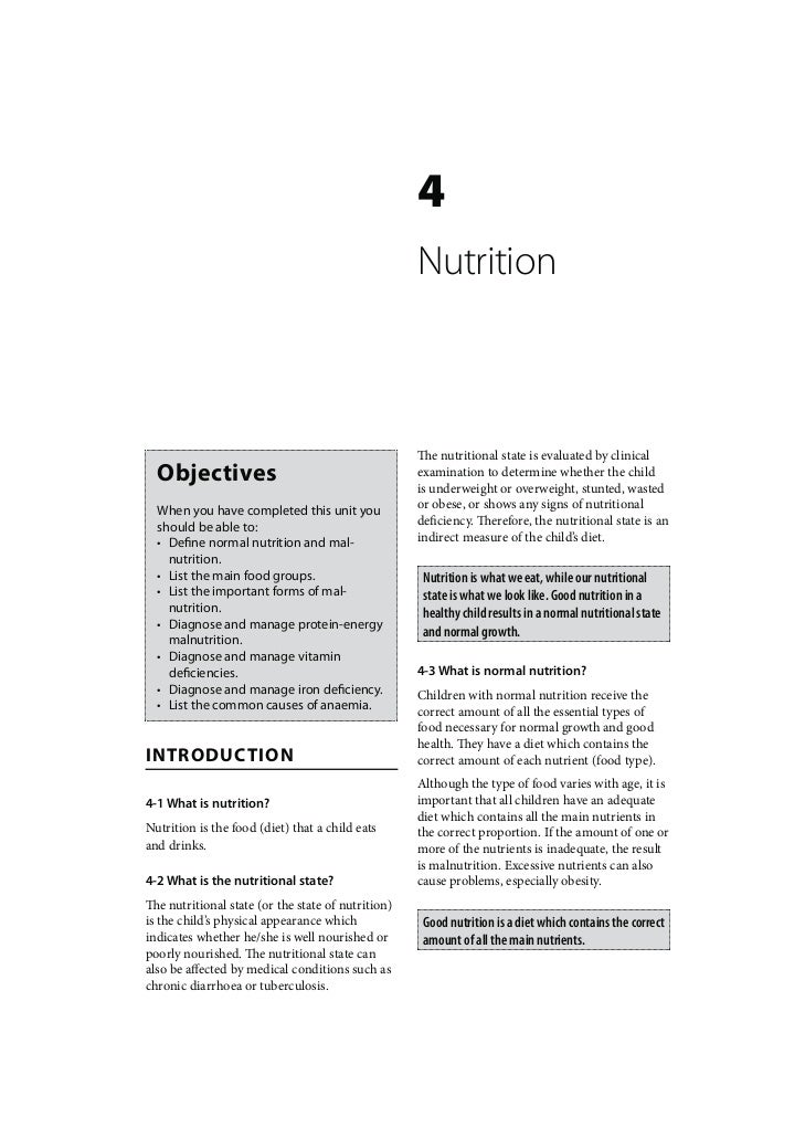Child Healthcare: Nutrition