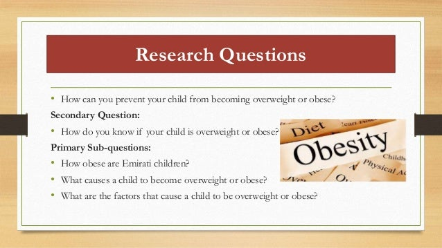 How to write a research paper on childhood obesity