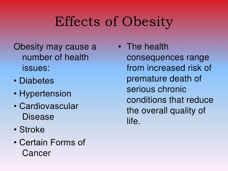 Cause effect essay obesity
