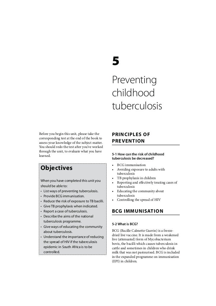 Childhood TB: Preventing childhood tuberculosis