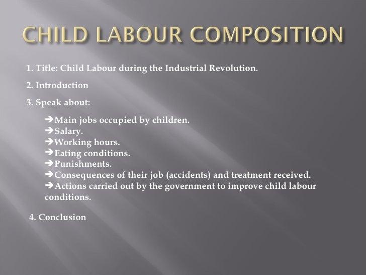 child labour during industrial revolution essay
