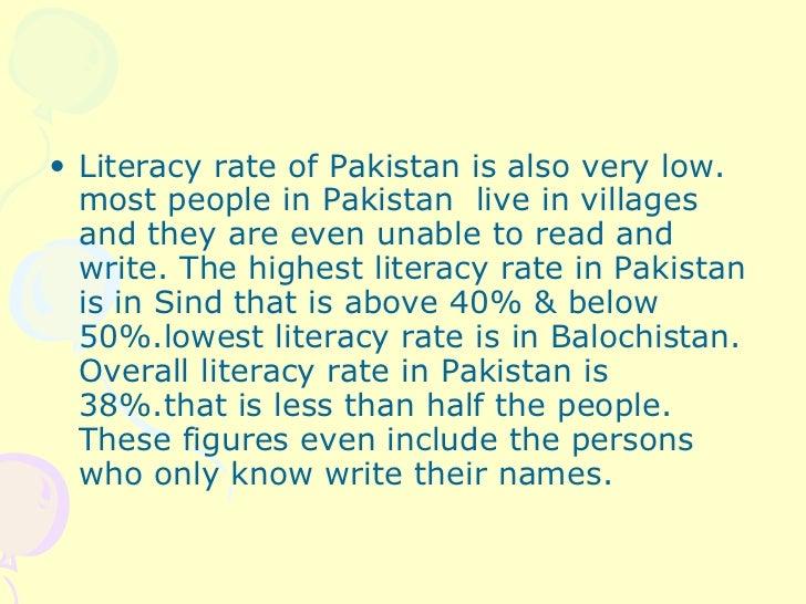 Short essay on illiteracy in pakistan 2015