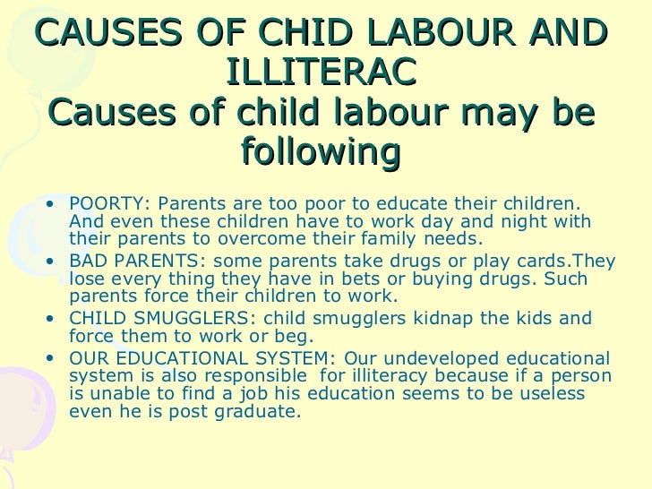 essay on problems of child labour Essay on child labour in indiachild labour means employing children in a  business or industry mainly when it is exploitive or illegaleffects and solution of.