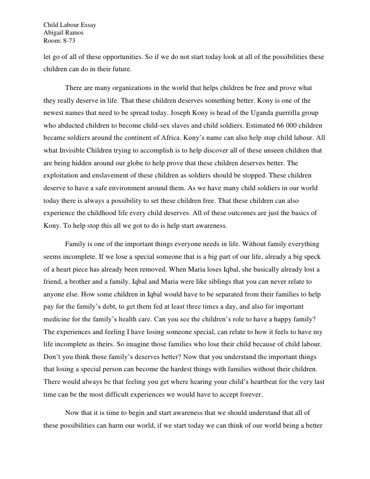 Essay on child abuse in india