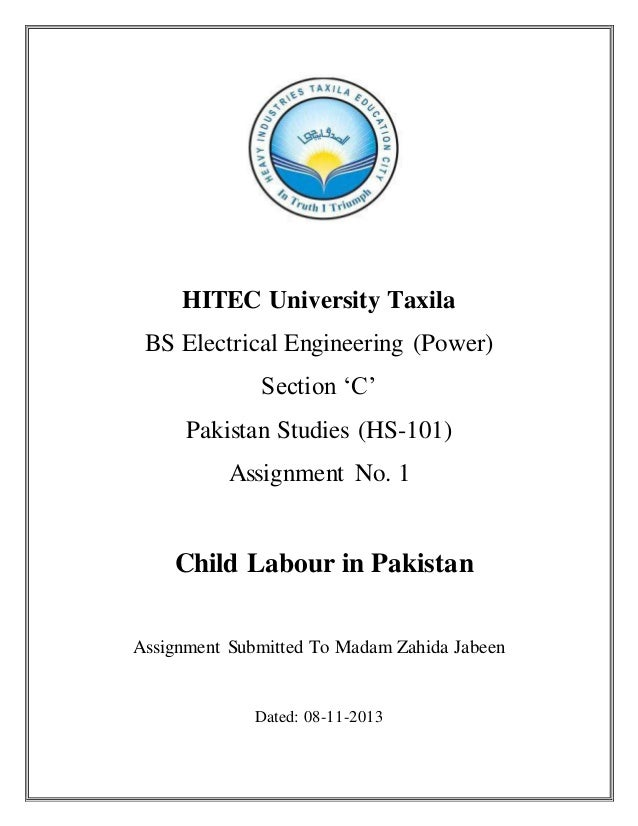 Assignment on child labour