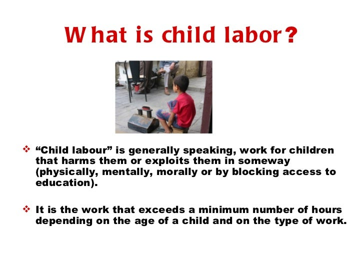 Child Labor Thesis Statement