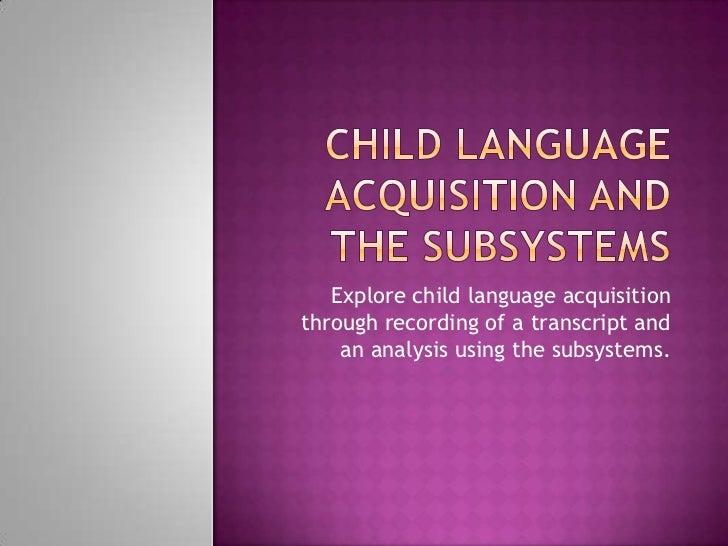 essays on child language acquisition