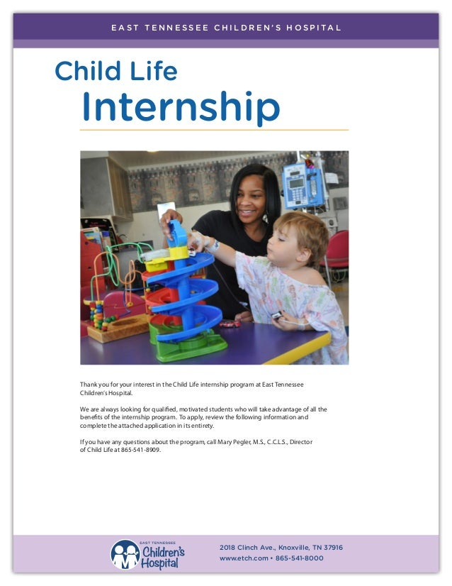 Child Life Internship Program