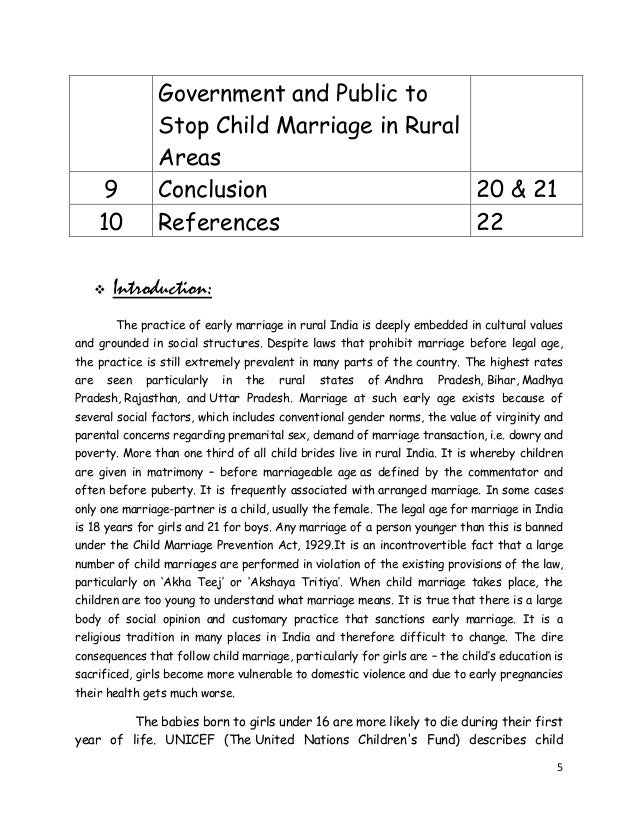 child marriages in india essay example In terms of absolute numbers, because of the size of its population, india has the most child marriages what progress has been made to stop the practice has been in.
