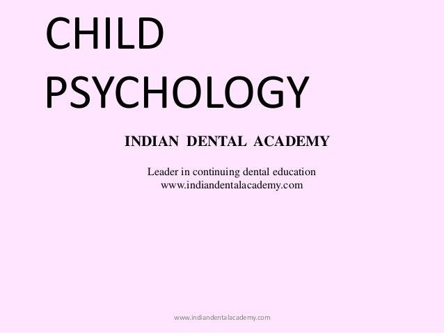 psychology in dentistry
