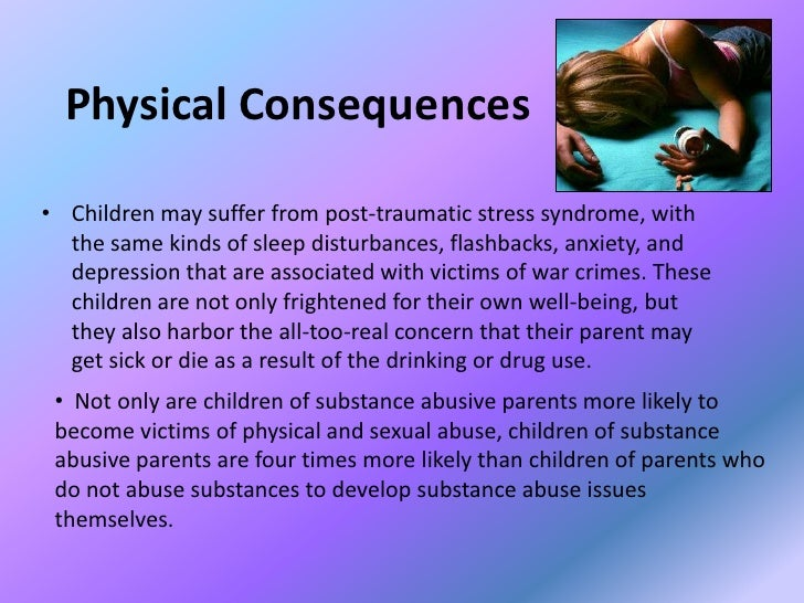 drugs and their consequence essay The truth about drugs is a series of fourteen illustrated drug information booklets containing facts about the most commonly abused drugs this website contains the full text of these booklets, which were specifically written for young people, but contain facts adults need to know as well.