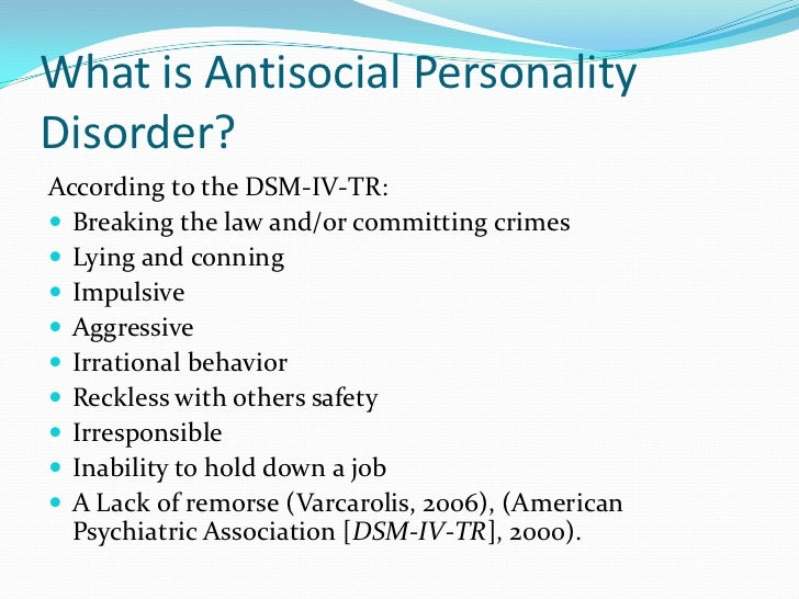 antisocial personality disorder essay paper Free psychopathy & anti-social personality disorder essays for students use myessayservicescom papers to help you.
