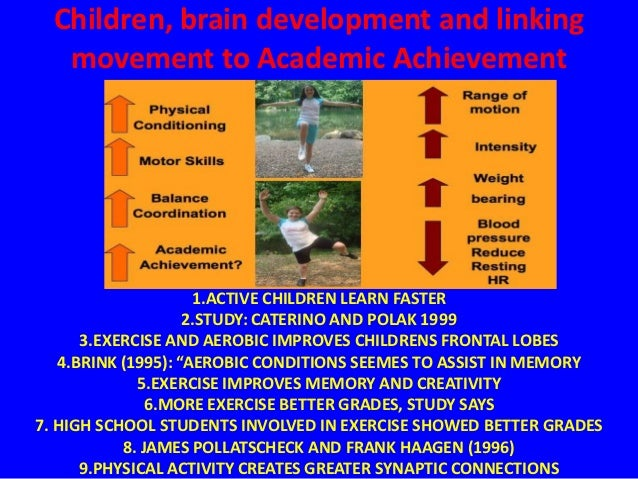 Children, brain development and linking   movement to Academic Achievement                     1.ACTIVE CHILDREN LEARN FAS...