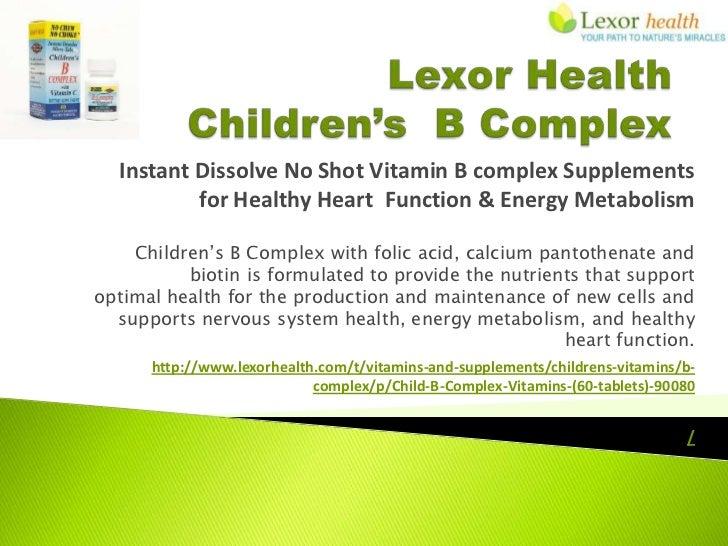 Instant Dissolve No Shot Vitamin B complex Supplements          for Healthy Heart Function & Energy Metabolism    Children...
