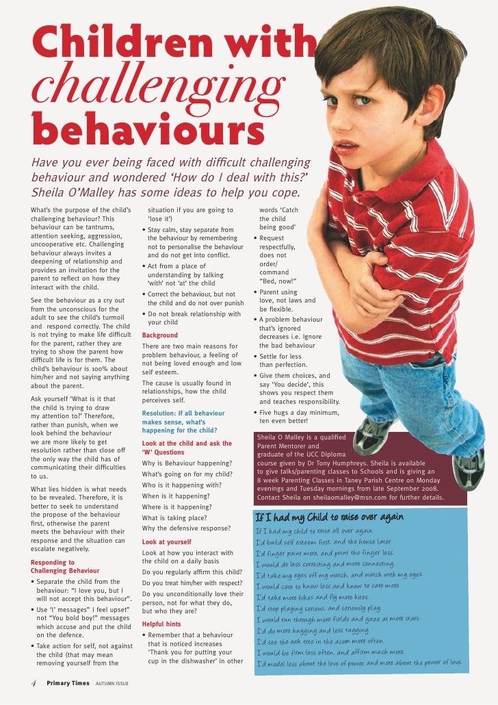observation of challenging behaviour by child And responses for those instances where difficult behaviour does occur where  teachers  practitioners should observe how children function as a member.