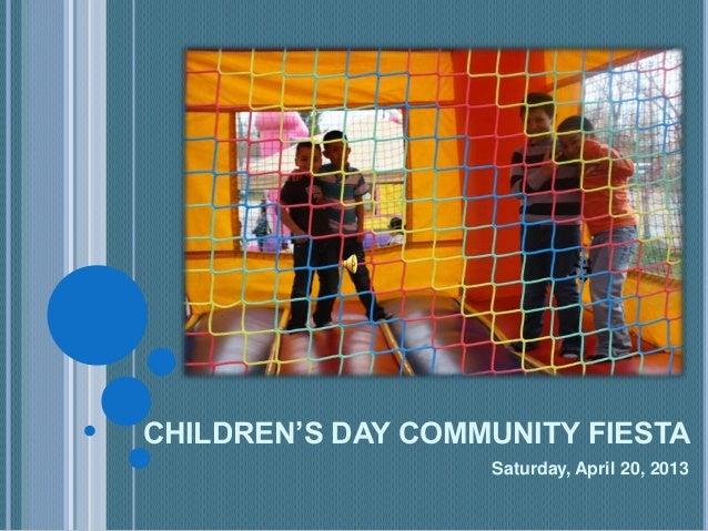 Children's Day Community Fiesta