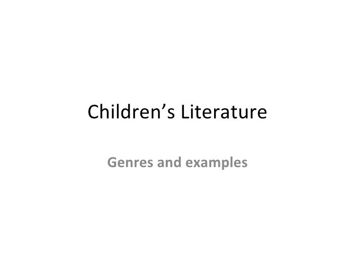 Children's Literature Genres and examples