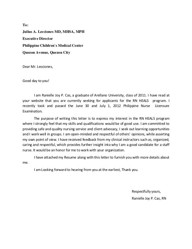 Application Letter Sample Application Letter Sample For