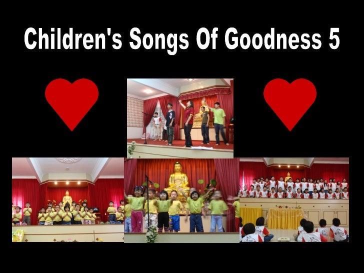 Children's Songs Of Goodness 5