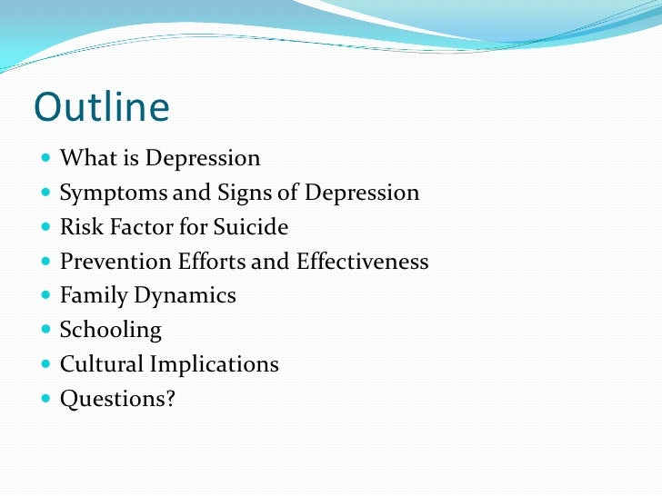childhood and adolescent depression and the risks of suicide essay