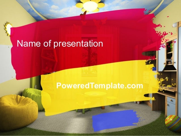 Child Room Design PowerPoint Template by PoweredTemplate.com