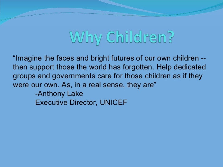 """ Imagine the faces and bright futures of our own children -- then support those the world has forgotten. Help dedicated g..."