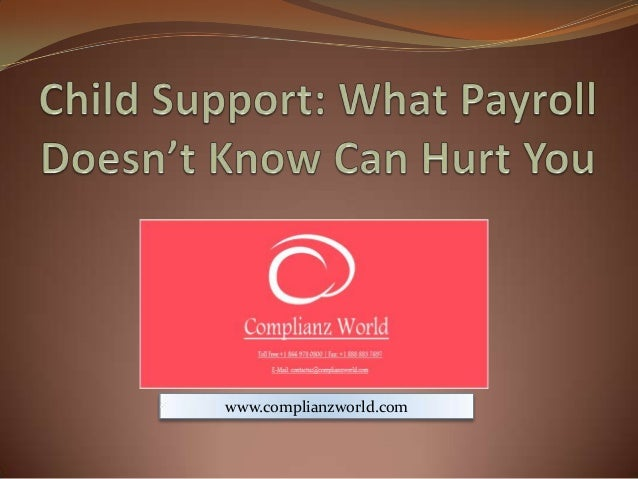 Webinar or Online Training on Child support what payroll doesn't know can hurt you