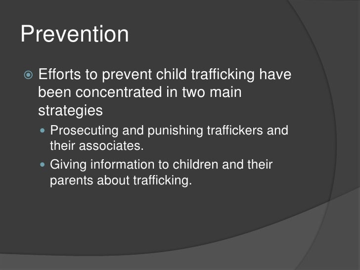 Thesis statement for human trafficking