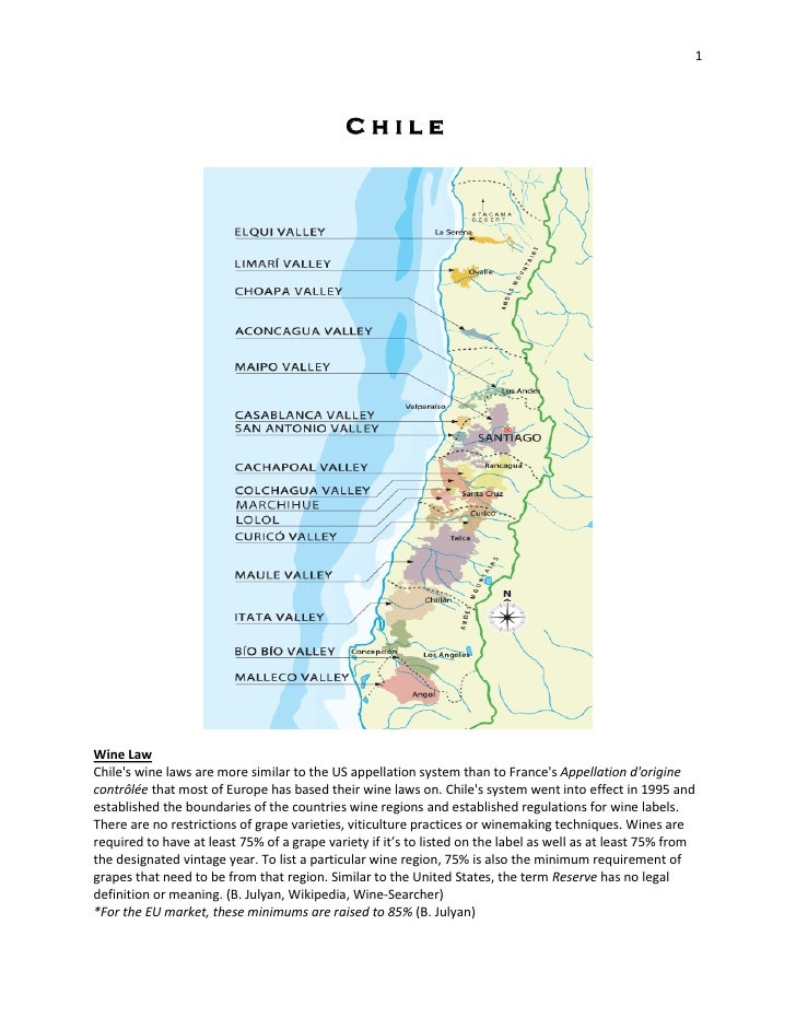 1                                                  Chile     Wine Law Chile's wine laws are more similar to the US appella...