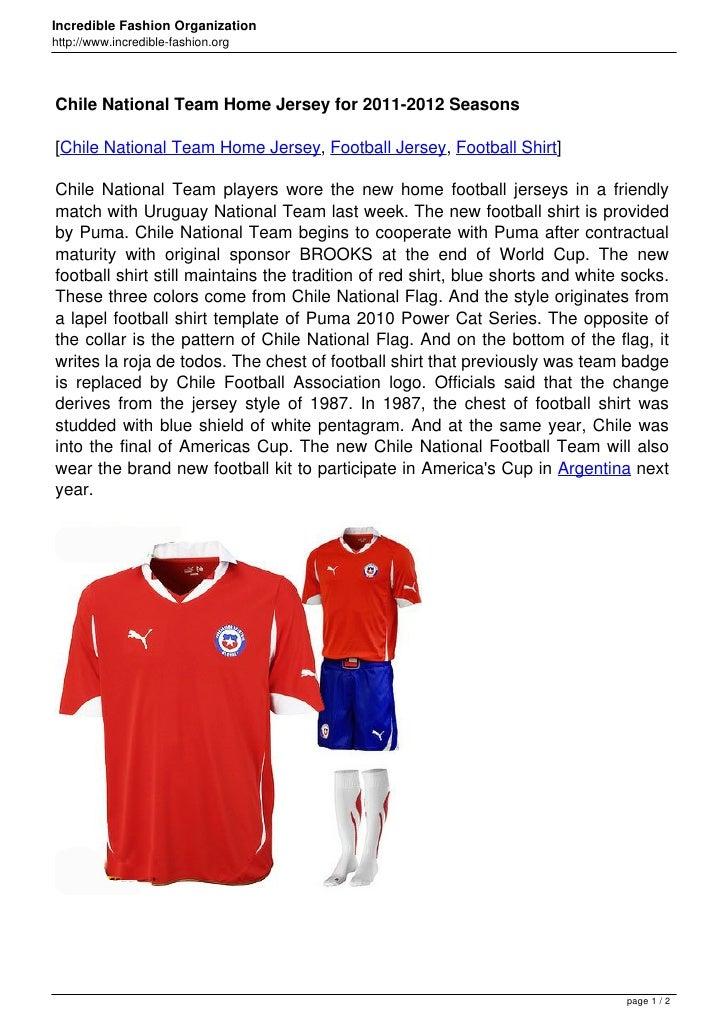 Incredible Fashion Organizationhttp://www.incredible-fashion.orgChile National Team Home Jersey for 2011-2012 Seasons[Chil...