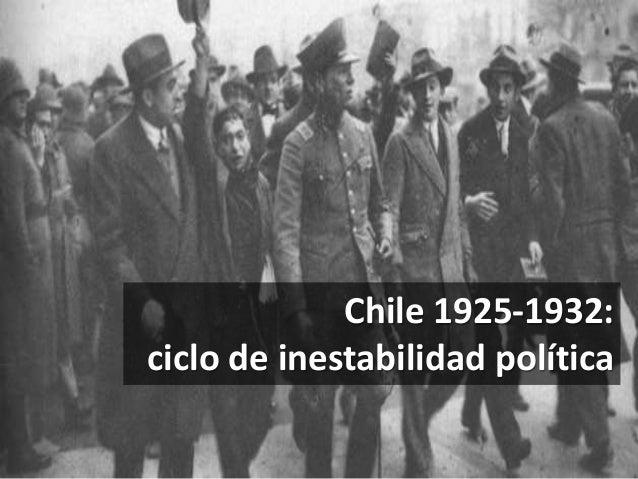 Chile 1925-1932: ciclo de inestabilidad política