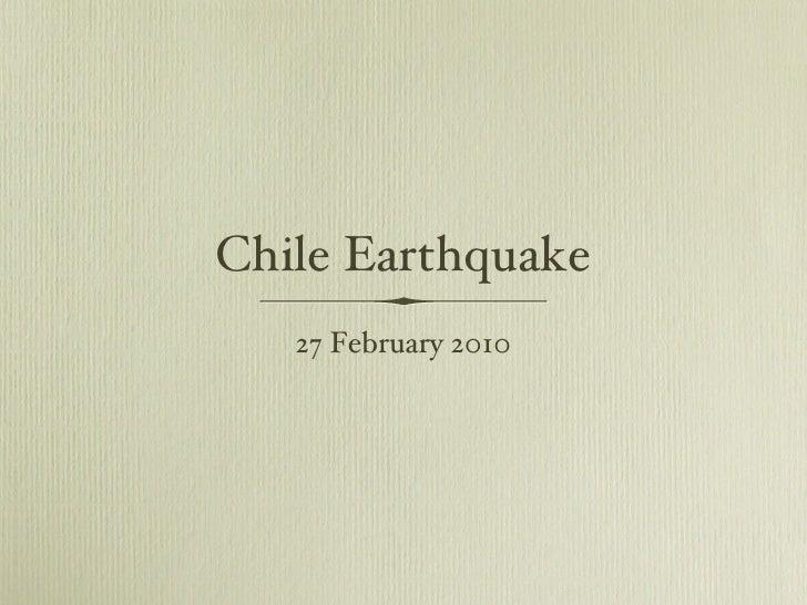 Chile earthquake - February 2010