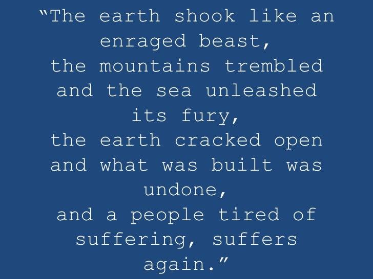 Chile earthquake tsunami relief   english bwa