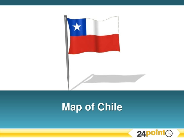 Editable PPT Map of Chile