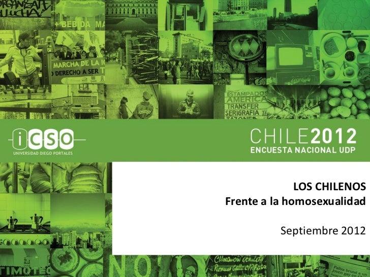 Chilenos y homosexualidad - Encuesta Nacional UDP 2012