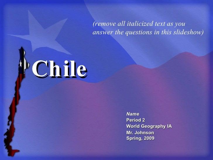 Chile Template