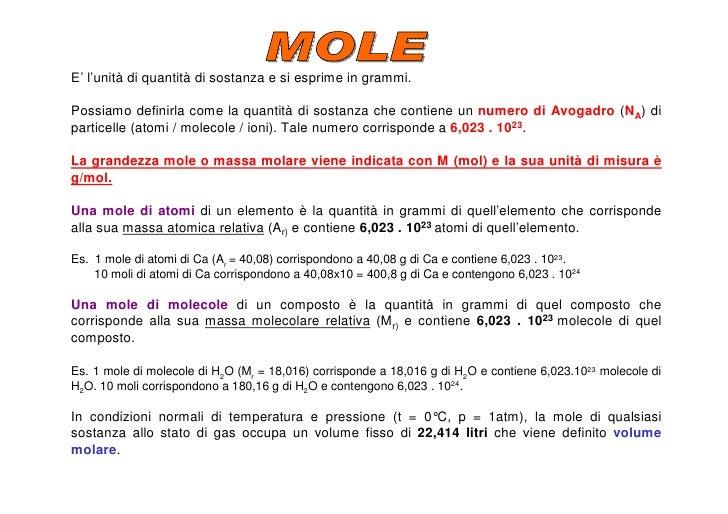 Chimica 1 - Volumi uguali di gas diversi ...