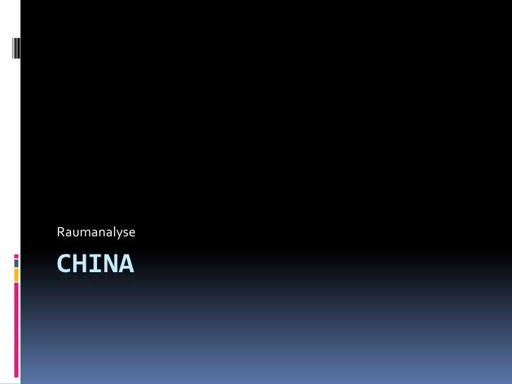 Raumanalyse  CHINA