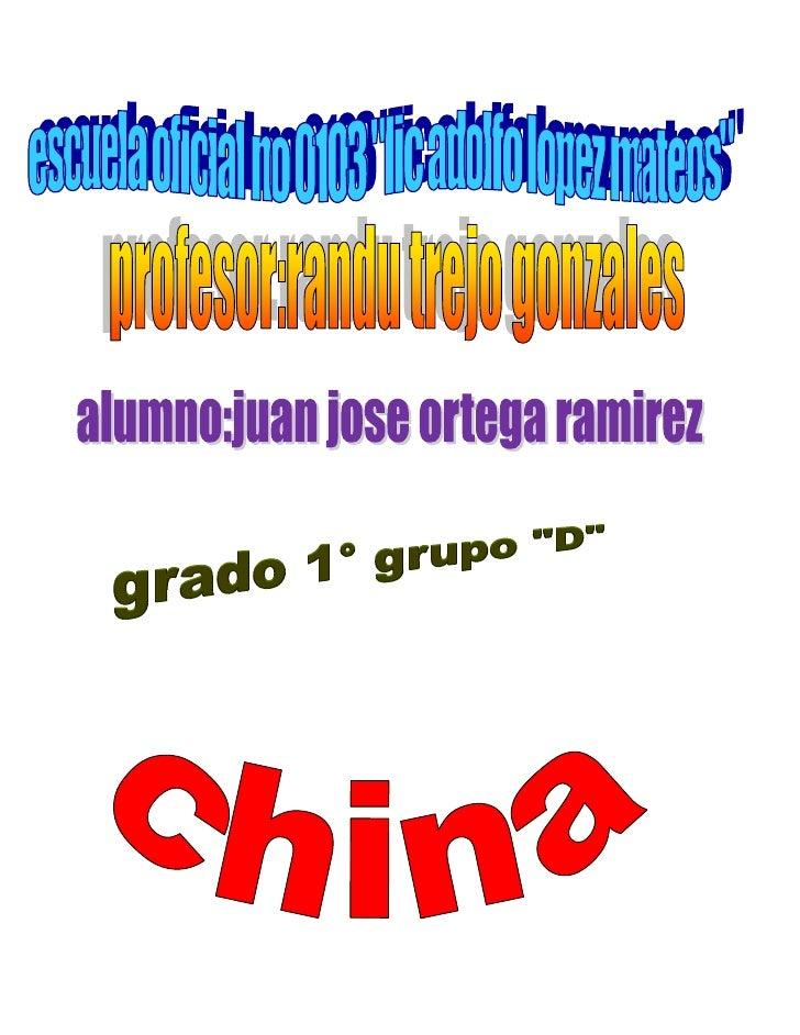 República Popular ChinaDe Wikipedia, la enciclopedia libreSaltar a: navegación, búsqueda«China» redirige aquí. Para otras ...