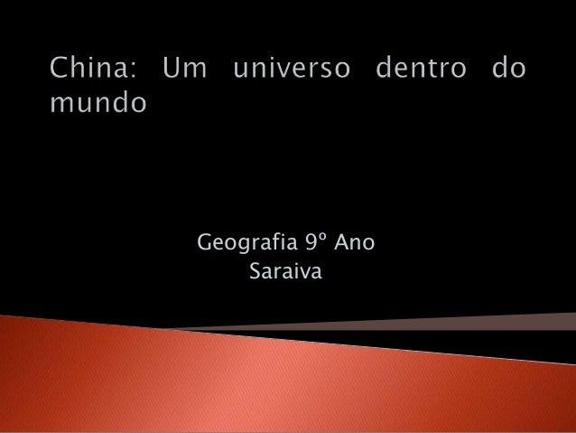 Geografia 9º Ano Saraiva