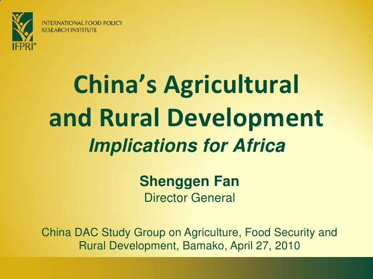 China's agricultural and rural development: implications for Africa